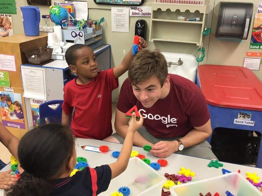 Scott Krulcik working with children