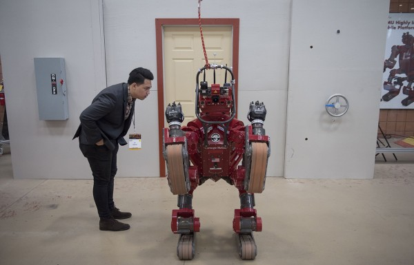 Malaysian ambassador and CHIMP robot